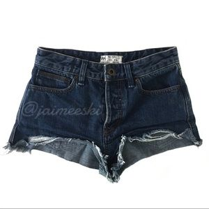 FREE PEOPLE High Rise Button Fly Jean Shorts